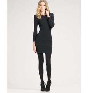 THEORY Gray Mickie Long Sleeve Dress